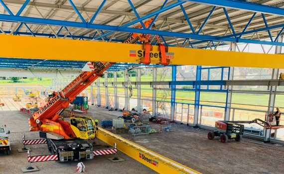 Demag AC45 with Runner in Ceiling