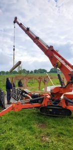 Jekko SPD360 mini crane in Alresford, Hampshire
