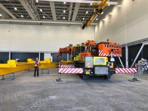 Demag AC40 mobile crane at farnborough airport