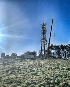 Foxhill Radio mast upgrade
