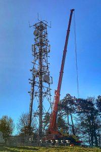 SSE Foxhill Radio mast upgrade