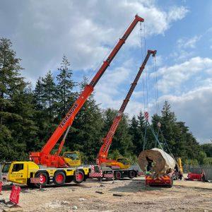 Multi-crane lift - Challenger 3160